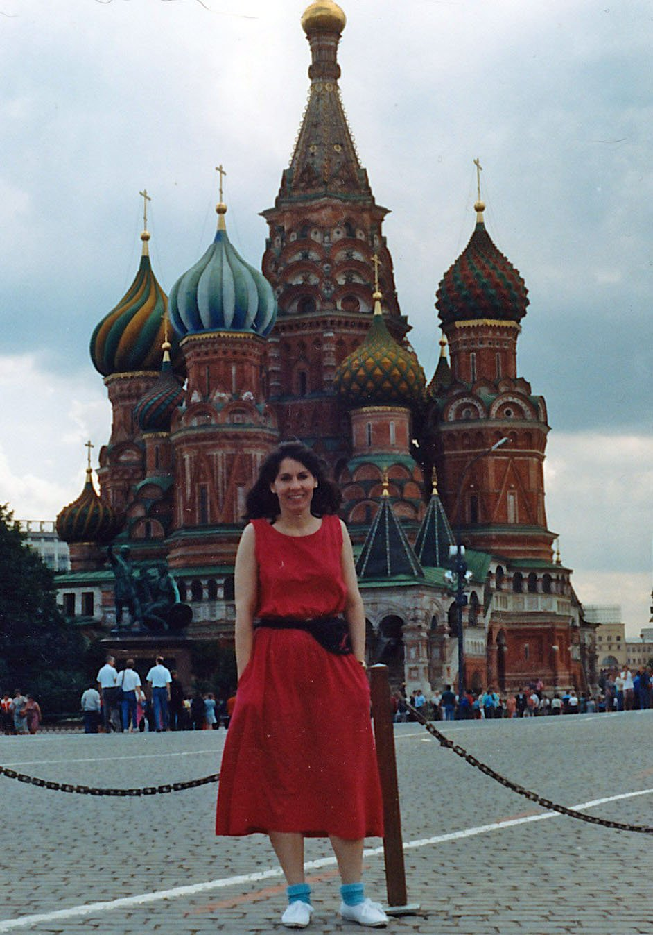 I'm in Red Square just two months before the Soviet coup. Please, don't ask why I'm wearing blue socks. (Moscow, Russia--1991)