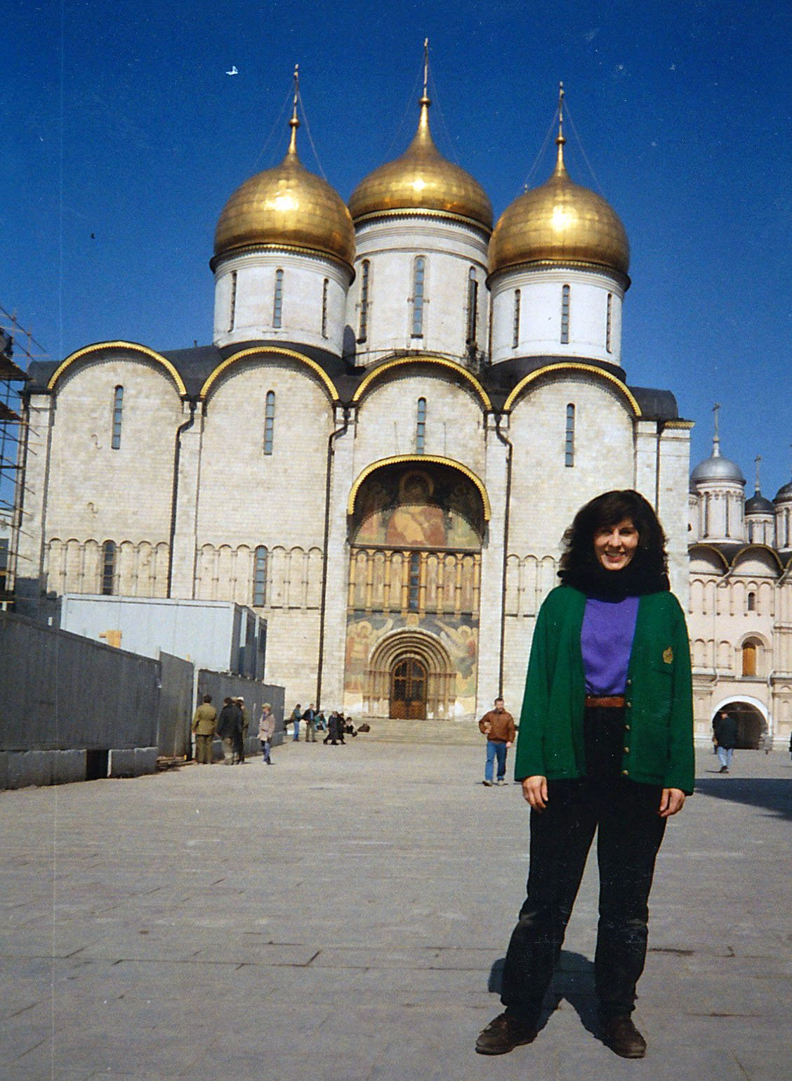 One of my favorite places, the Kremlin in Moscow, Russia. This is from 1994, or so. Photo credit: Helen Holter