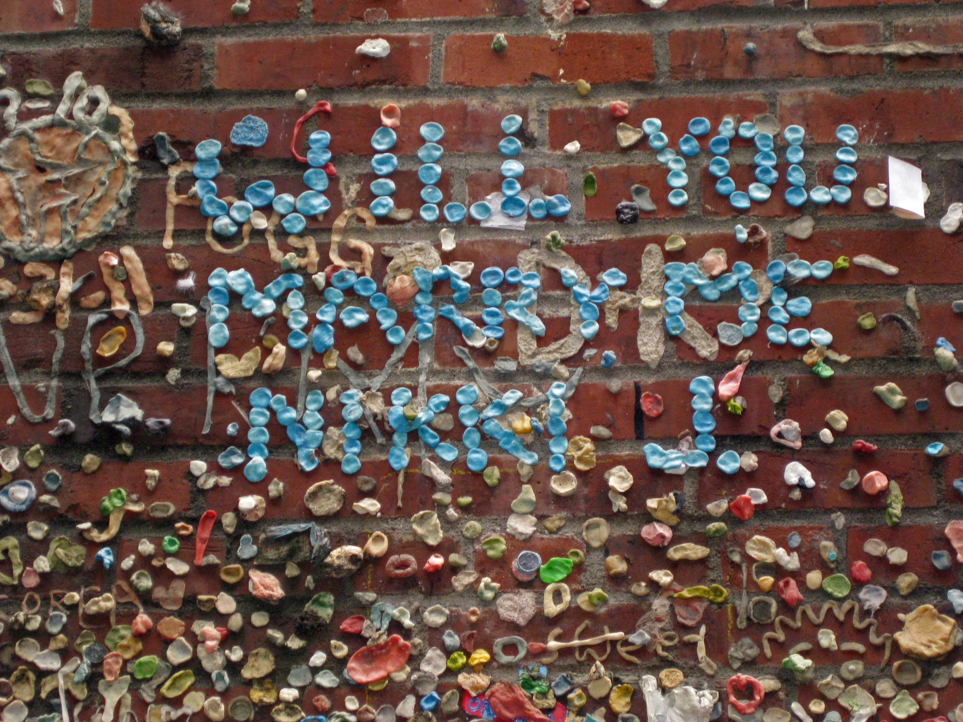 Marriage proposal at Seattle's Gum Wall Photo copyright: Helen Holter