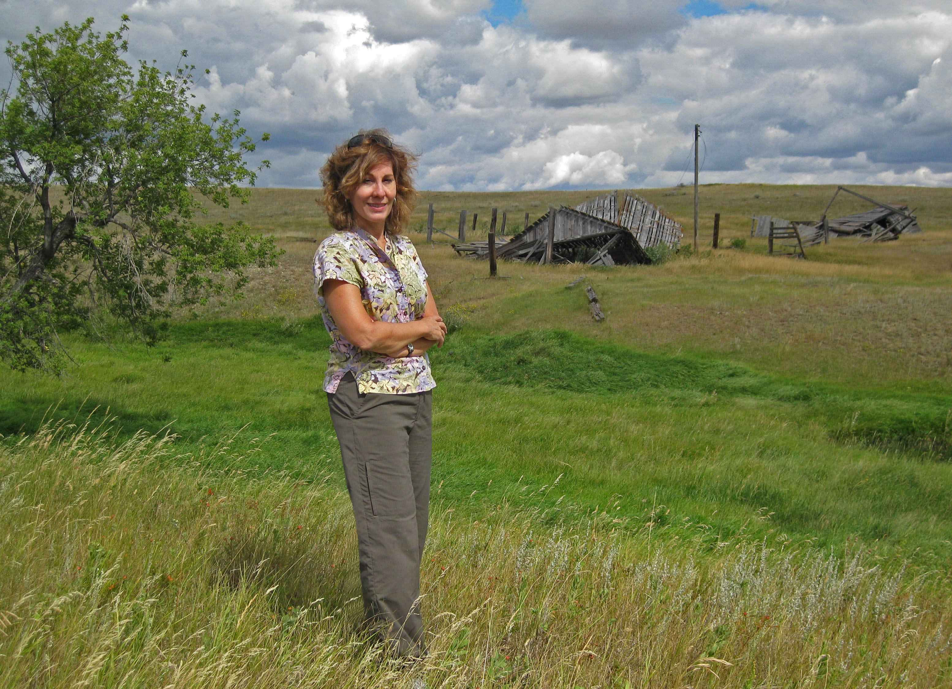 I'm standing in the place my mother was born, on her family homestead in northeastern Montana.(2011)