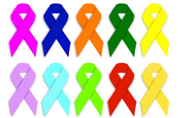 Sadly, each ribbon color represents a different cancer – and these are just a few <br /><p id=