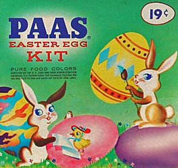 If I made it through Good Friday services, my prize was PAAS: dyeing Easter eggs