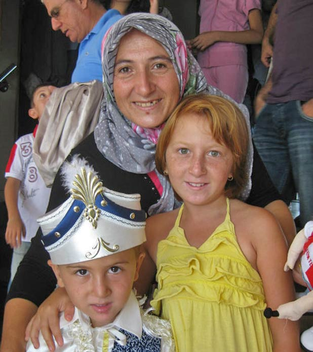 Great costume but – uh-oh - it's circumcision day! Aboard Istanbul ferry to Büyükada, Turkey