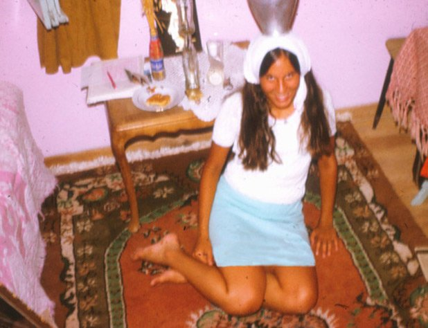 Minor cultural achievement: I can balance a water jug! At home in Mustafakemalpasa, Turkey in 1973