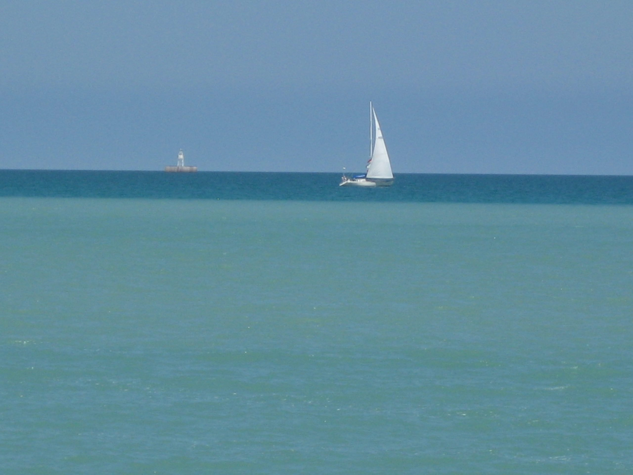 Breezes on Lake Michigan, from the shores of my town, Racine.