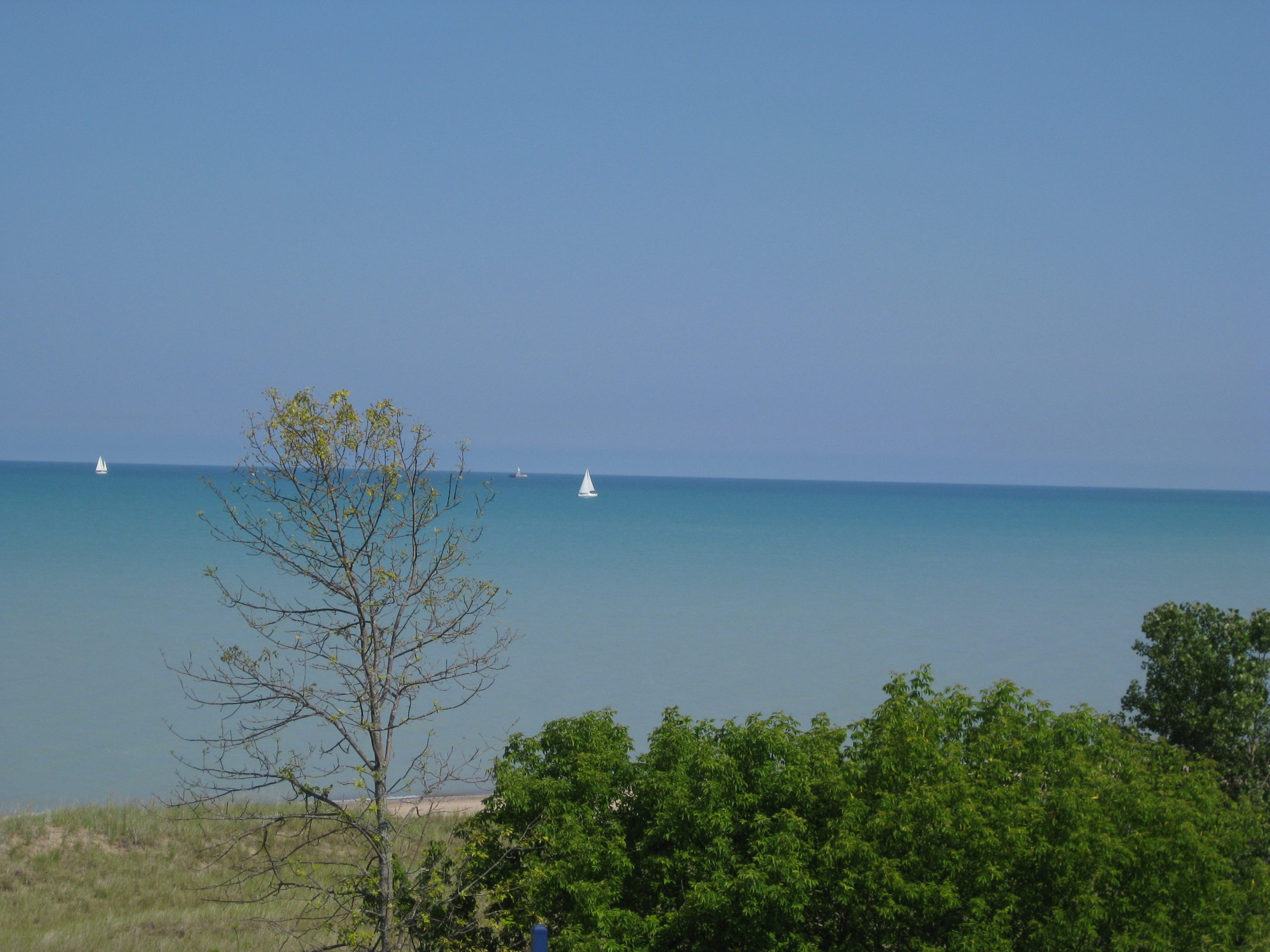 Summertime views from North Beach in Racine, Wisconsin, where I used to go swimming.