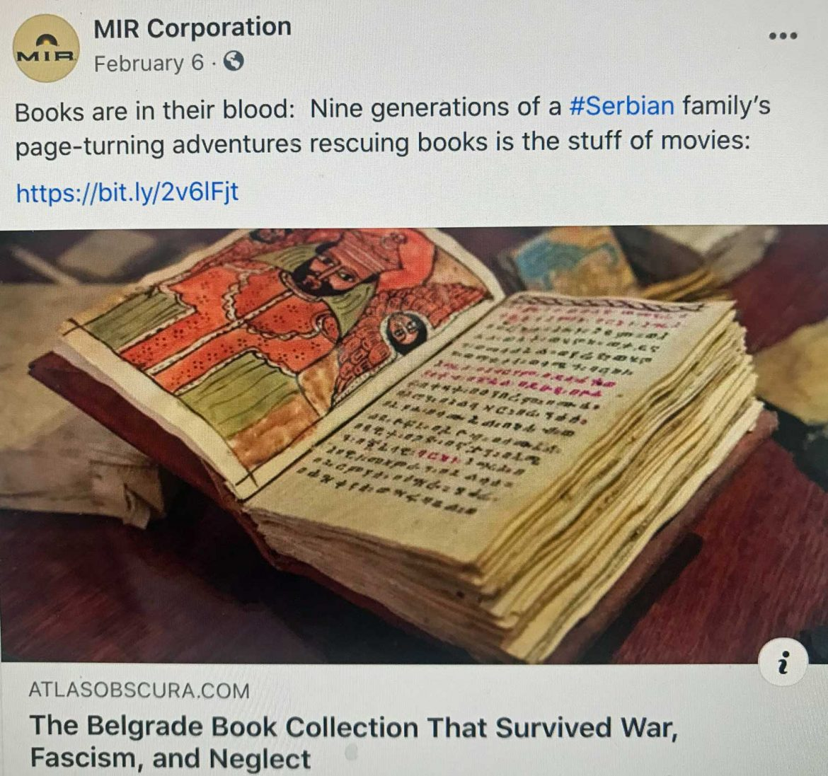 Facebook-Ancient books in Serbia