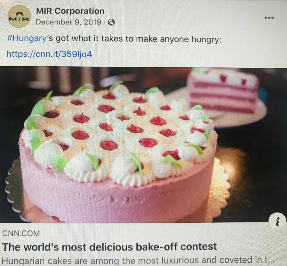 Facebook-Cakes in Hungary
