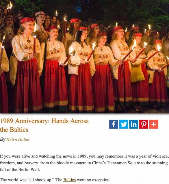 Remembering 1989 anniversary-Tallinn, Estonia of Hands Across the Baltics, Tallinn, Estonia