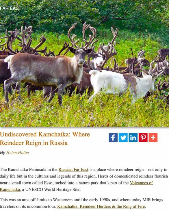 Reindeer herd-Kamchatka Peninsula, Russian Far East