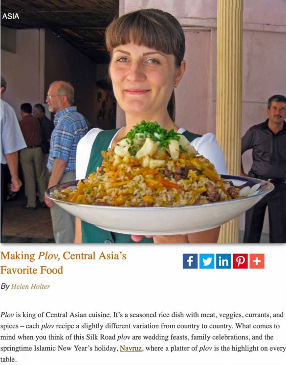 Plov, Uzbekistan's national dish